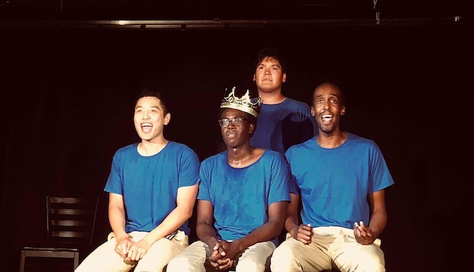 "TallBoyz II Men at the end of our hit show ""A 6ix NNNNNN"" Revue!"