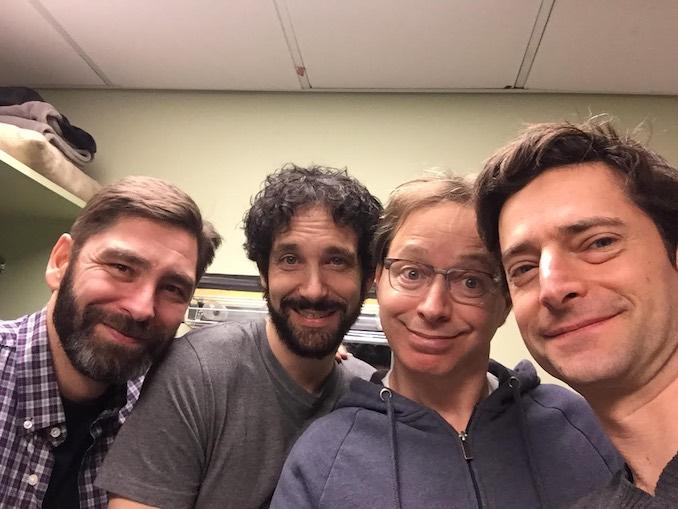 Jordan Pettle - OSLO Cast members, Mark McGrinder, Jonas Chernick, Amitai Kedar, and me, Jordan Pettle.