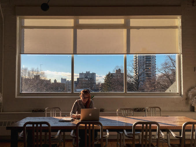Office Life. Still getting used to this. But this window has the best winter light.