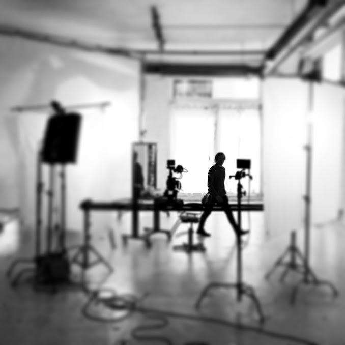 On set.