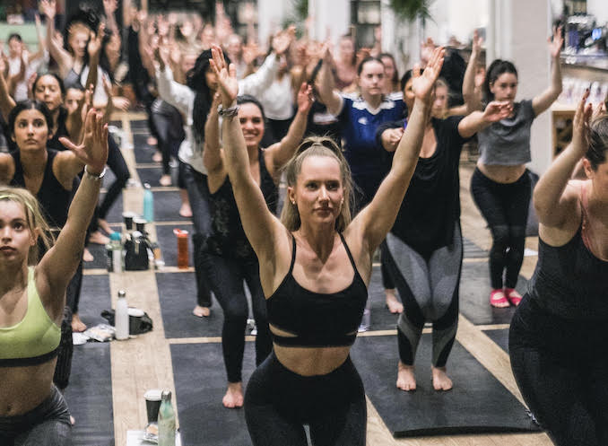 Jaclyn Genovese - Here I am doing yoga with my beautiful Fitness by Jacflash family. I host this workshop once a month which includes a speaker on various wellness topics, a one hour yoga session, amazing goodie bags and more!