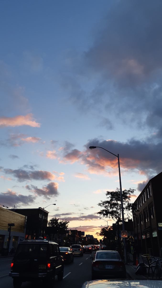 Sunset in Bloor West Village: Beautiful sunset close to where I live.
