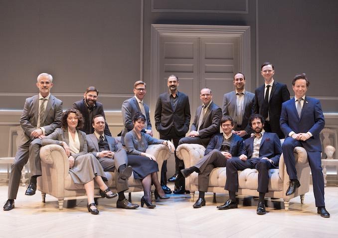 The Company in the Studio 180 Theatre production of OSLO. Photo credit - Cylla von Tiedemann.