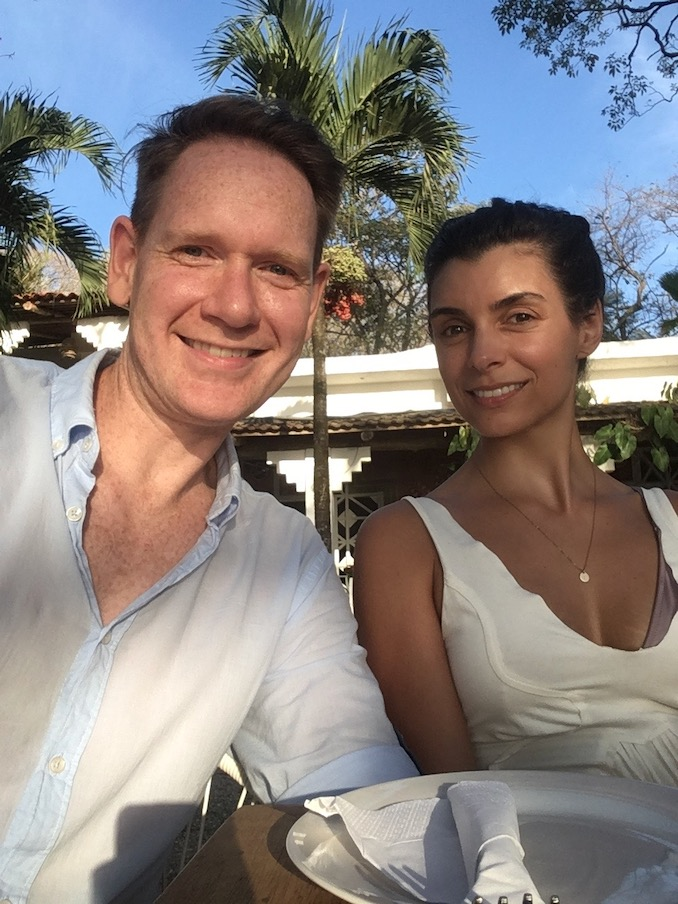 This is my partner Andy. We were recently in Costa Rica finding some winter relief. He's also an actor, a musician, a super boyfriend and a huge supporter of everything I do.
