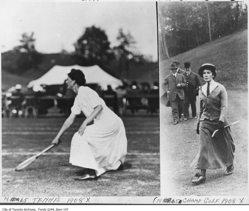 1908-09 - Female athletes - old golf photographs in toronto