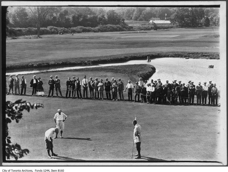 1913 - Evans playing 7th hole, Lambton - old golf photographs in toronto