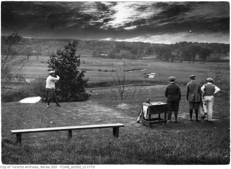 1922 - October 24 - Golf - Lambton golf links - old golf photographs in toronto