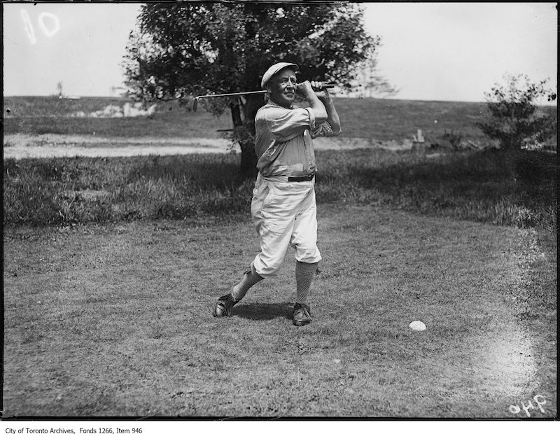 1923 - June 21 - Lakeview Golf Club, George Lyon, driving off