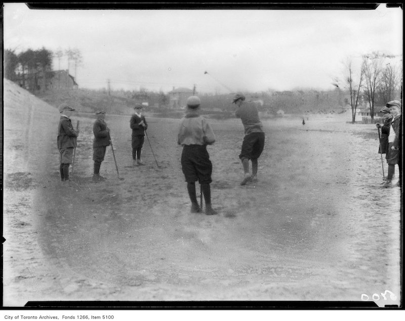 1925 - May 2 - Boys playing golf on Kennedy Avenue