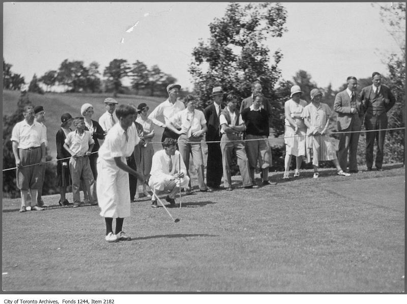 1929 - Jack Nash in the final, Ontario Amateur Golf tournament, Scarborough Golf Club