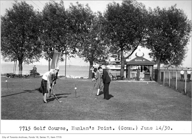 1930 - June 14 - Golf course, Hanlan's Point