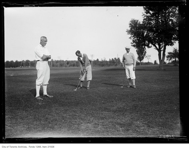 1930 - September 10 - Mississauga Golf 25th anniversary, J.C. Anner, Geo. Hawkins, Islington, Thos. Rennie, Rosedale