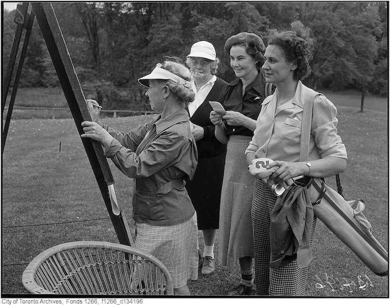 1949 - MY 22 - Toronto Ladies' Golf 25th Anniversary, Violet Hubbard, Alison Pocock, Ruth Lauf, Mary Chapin
