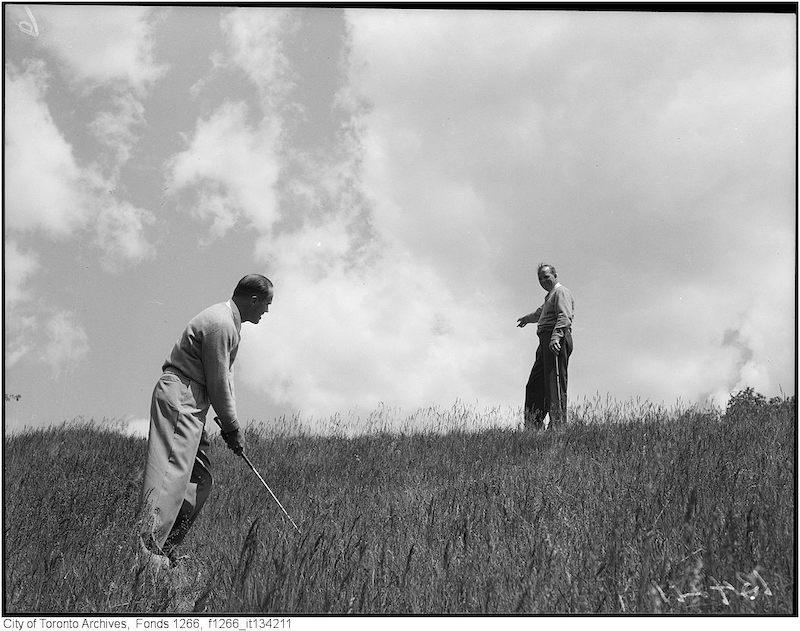 1949 - My 30 - St.George Golf, Gord [Beydson] uphill, Bob Gray beside