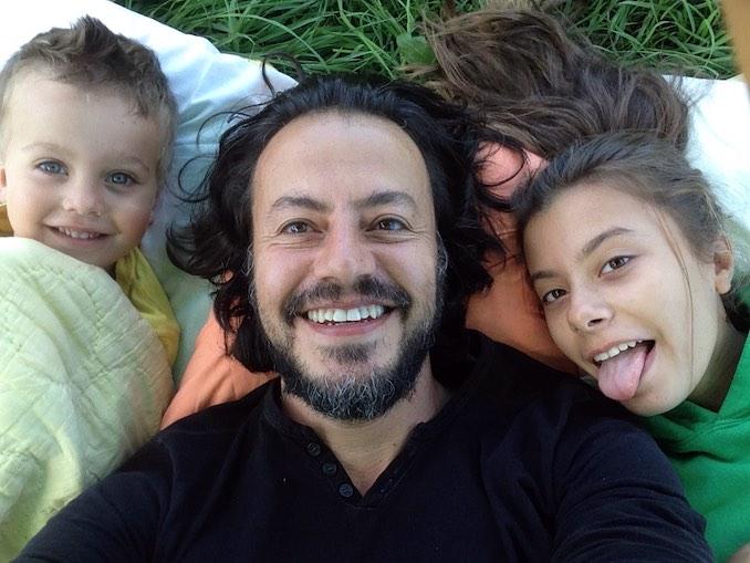 Me and my kids, Huxley and Saylor.