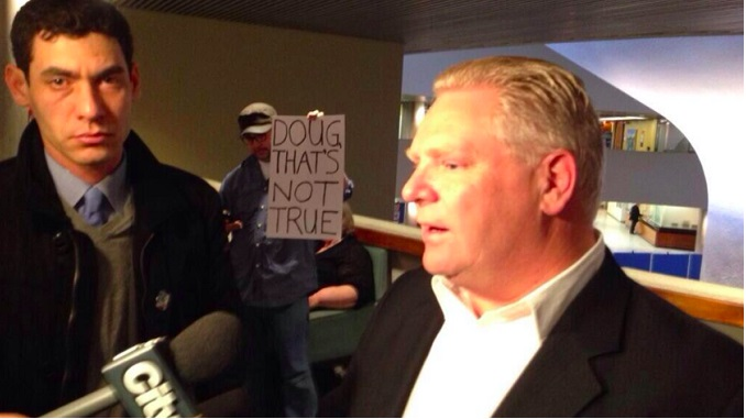 Healthcare Doug Ford speaking to reporters