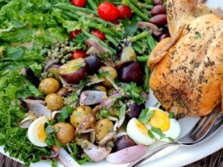 White Wine Grilled Chicken with Grilled Niçoise Salad