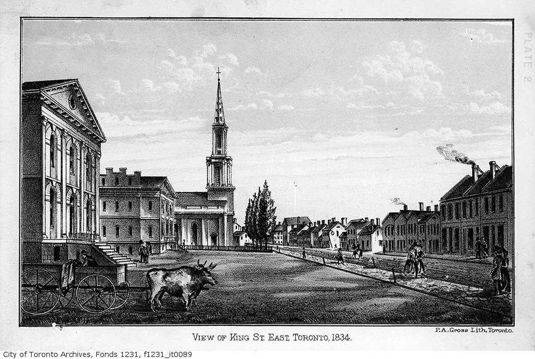 1834 - View of King Street East,