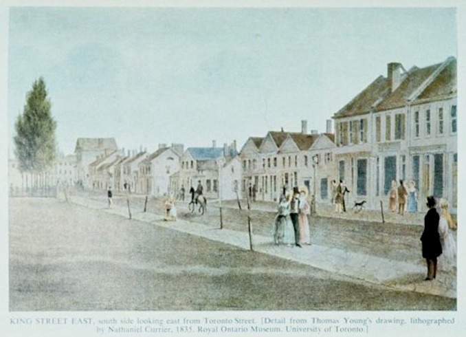 1835 - King looking east from Toronto Street