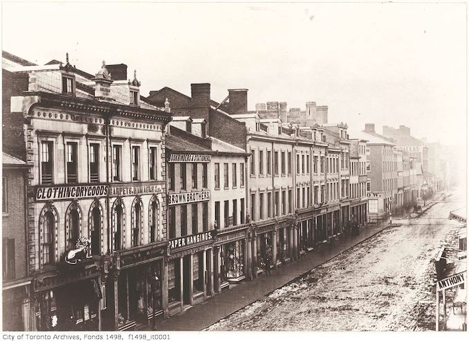 1856 - King Street East, south-side, looking west.