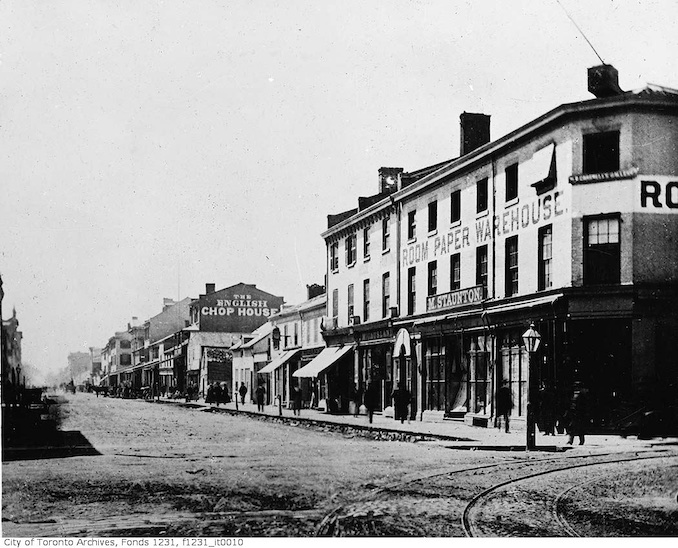 1866 - Northwest corner of Yonge and King streets