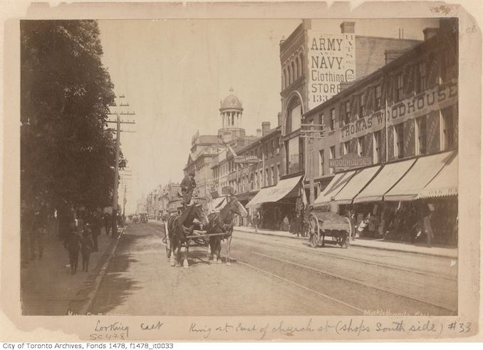 1885 - 1895 - King Street East, south side, east of Church Street