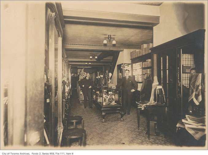 1890? - Interior of Bilton Bros ltd mens clothing store at 103 King Street West