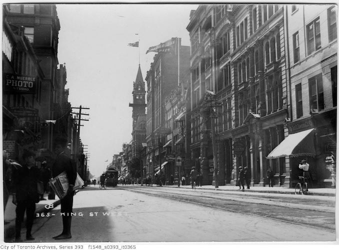 1897 - King Street - west from Yonge