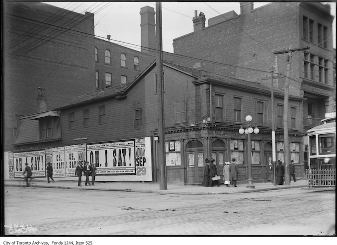 1908 - The British Hotel at the north-east corner of Simcoe and King streets