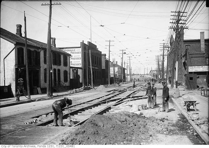 1912 - April 23 - King Street at St. Lawrence Street east to Don River