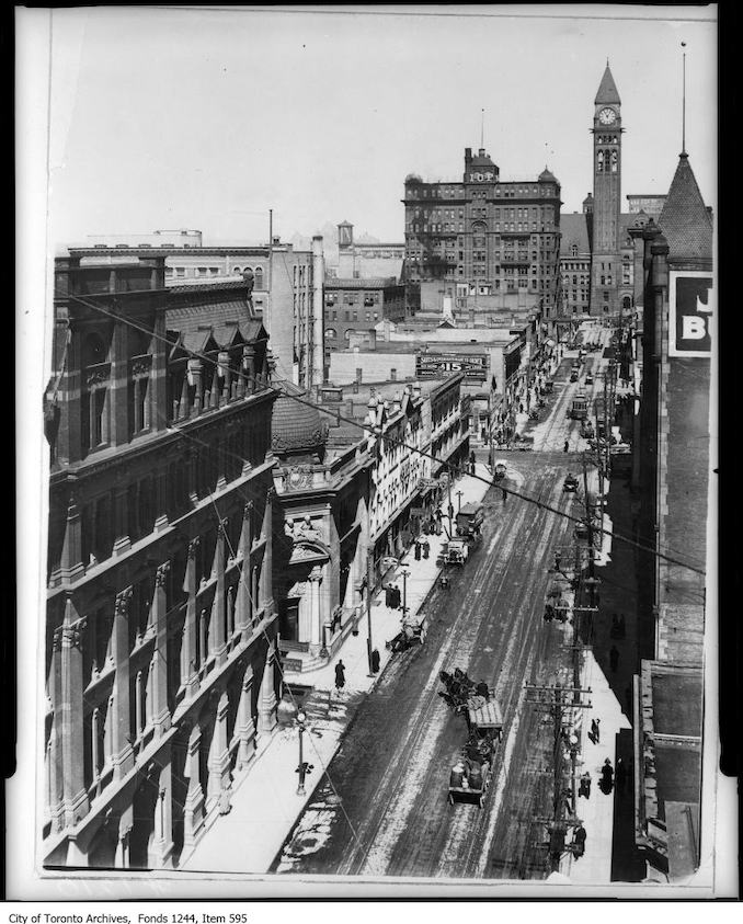 1912 - Bay Street, looking north from King Street West