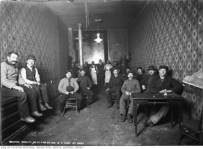 1912 - February 23 - Interior of old house on north side of King Street East