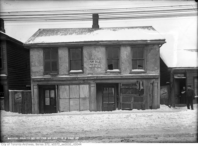 1912 - February 23 - Old building on King Street East near St. Lawrence