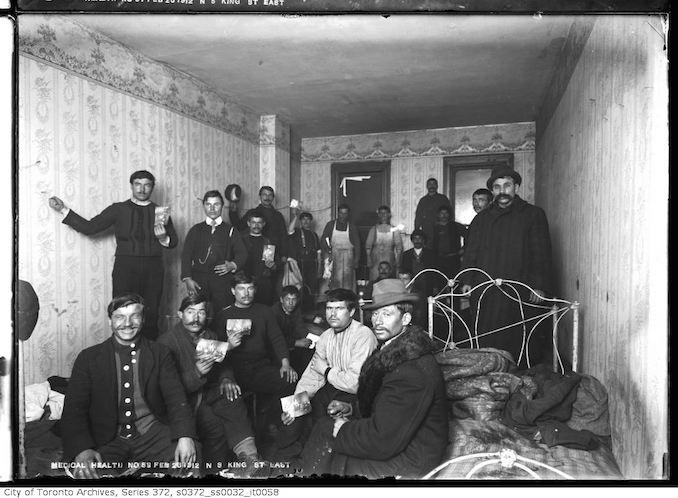 1912 - February 26 - Interior, occupied - slum house on north side of King Street East