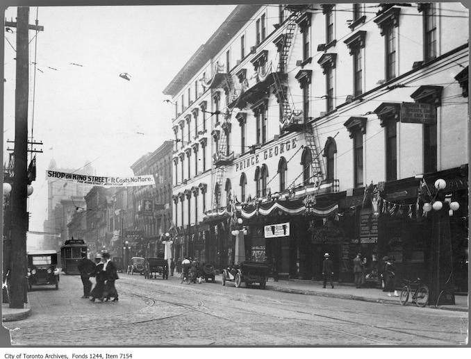 1912 - King Street West, south side, looking east from York Street