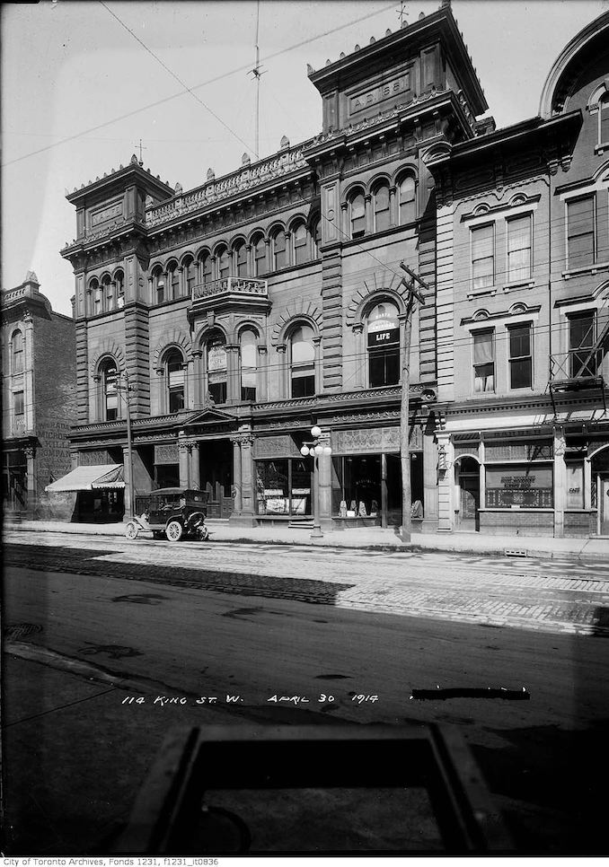 1914 - April 30 - North American Life Building, No. 112-118 King Street West