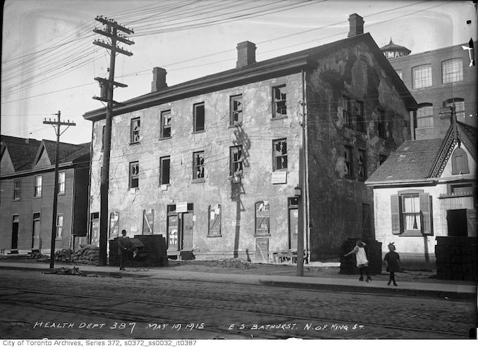 1915 - May 19 - East side Bathurst Street north of King Street