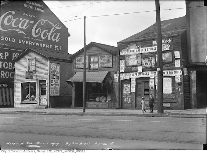 1917 - October 1 -Condemned houses 372 to 376 King Street East
