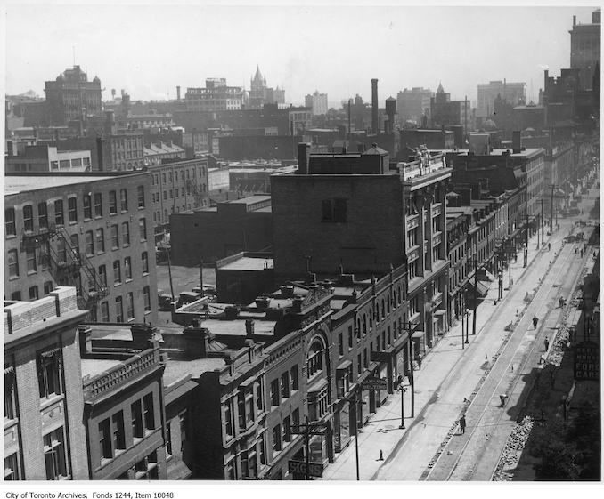 1920 - King Street West, looking northeast from Simcoe Street