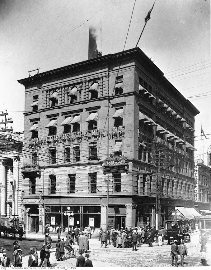 1920 - Manufacturers Life Building, Yonge Street at King Street West, north-west corner