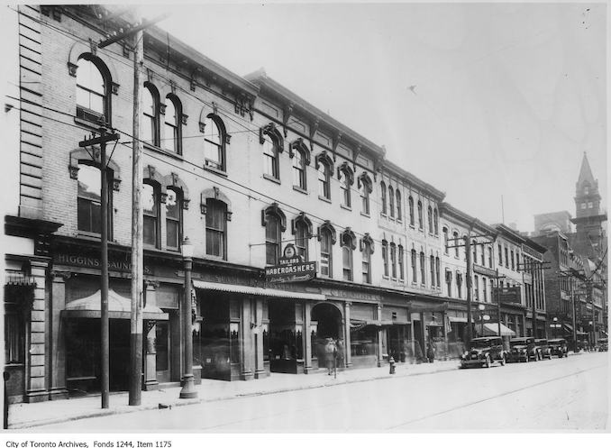 1927 - North side of King Street West, looking east to Bay Street