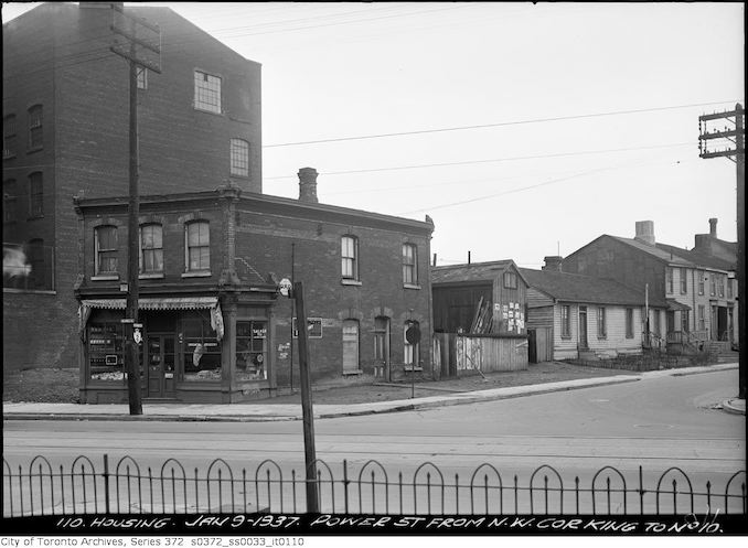 1937 - January 9 - Power Street from norhwest corner of King St. to NO. 10