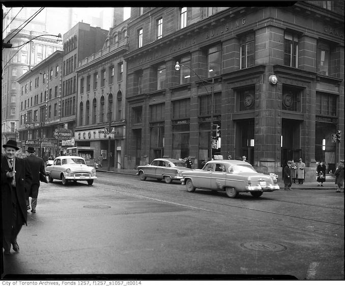 1950? - King Street East and Yonge Street