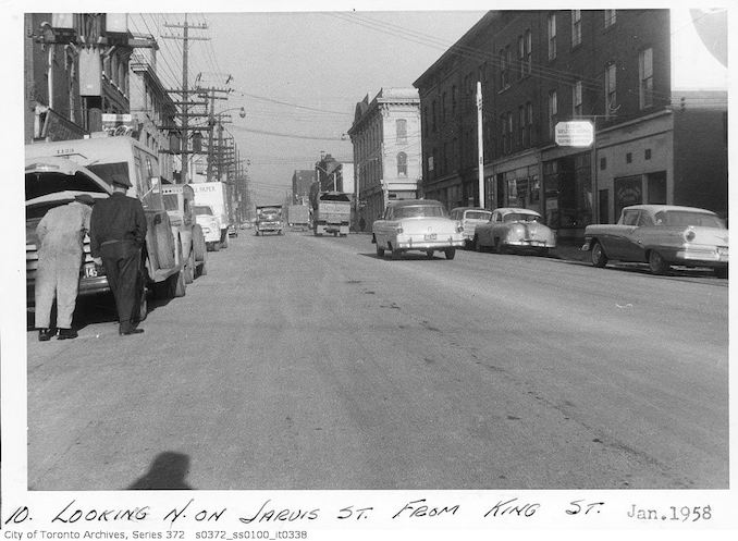 1958 - January - Jarvis Street looking north from King Street