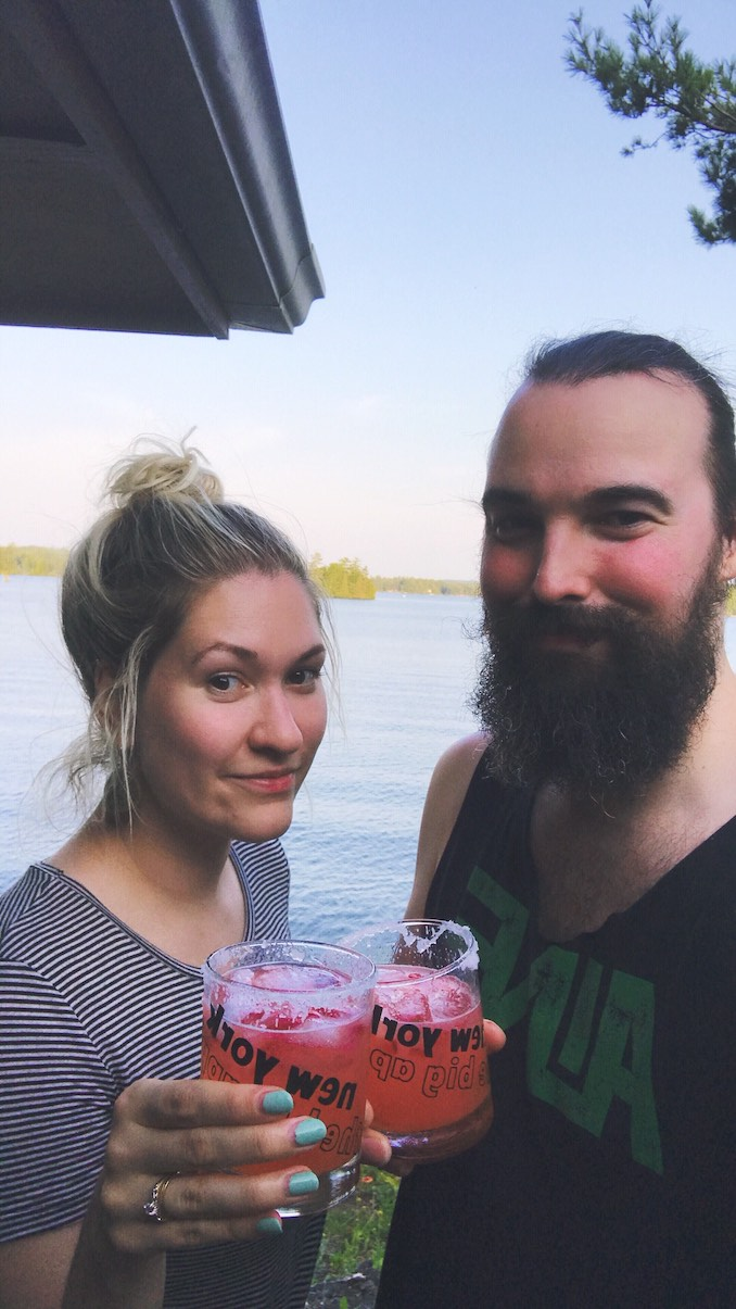 Cottage life brought to you by strawberry margaritas.