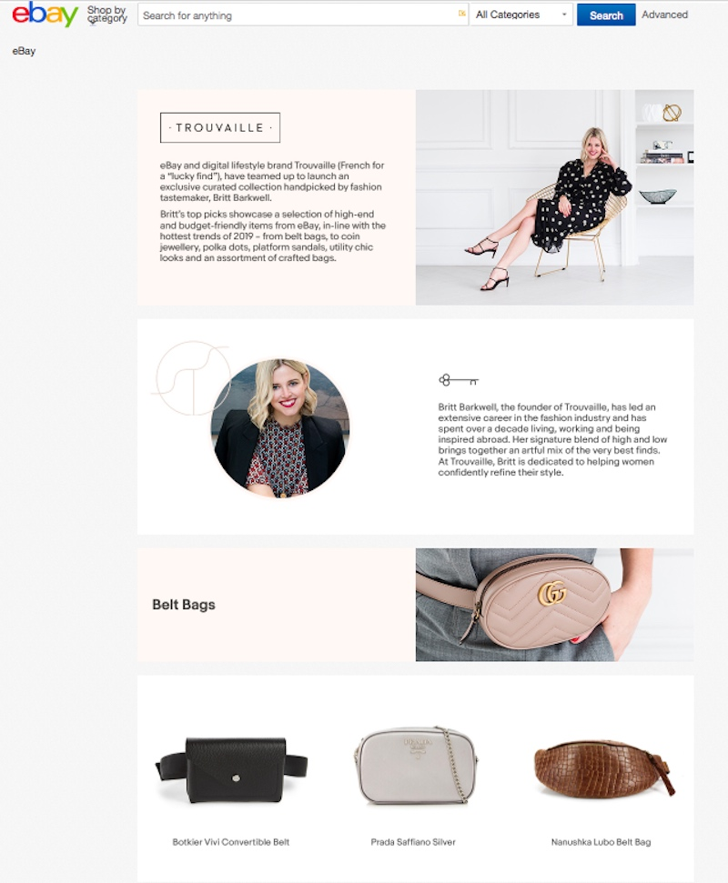 Trouvaille shopping website personal shopping style