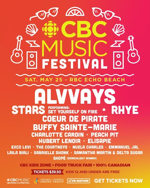 CBC Music Festival unveils lineup for 2019