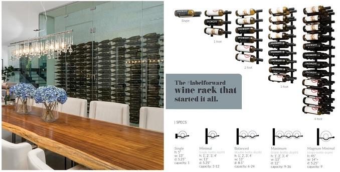 wine bottles on display in the home, VintageView wine racks