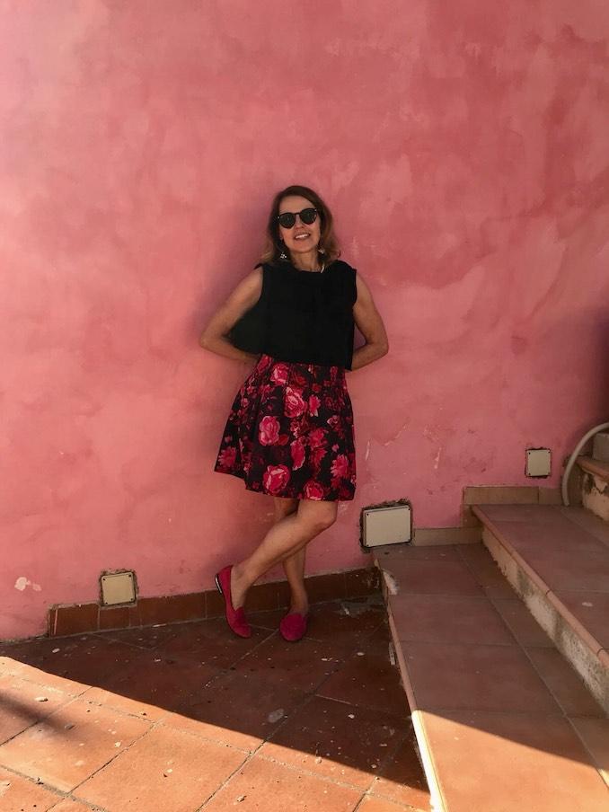 Cindi Emond - Pink on pink in Positano, Italy.