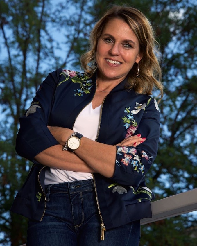 Cindi Emond - Dressed in my favourite jacket. It's a piece I live in!